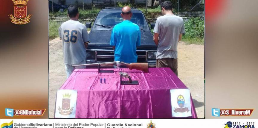 GNB Guárico aprehendió a ciudadano con dos armas de fuego
