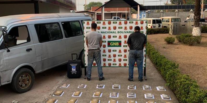 GNB incautó más de 19 kilogramos de marihuana en el estado Bolívar
