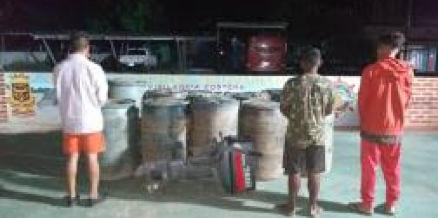 Comando de Vigilancia Costera desmantela banda de contrabandistas de combustible en el Bolívar