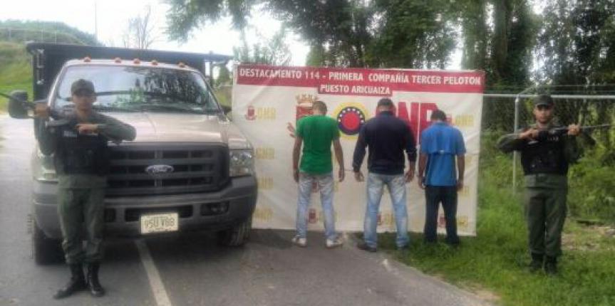 """GNB desmantela banda """"Los Revilla""""  dedicados al robo de vehículos en Machiques"""