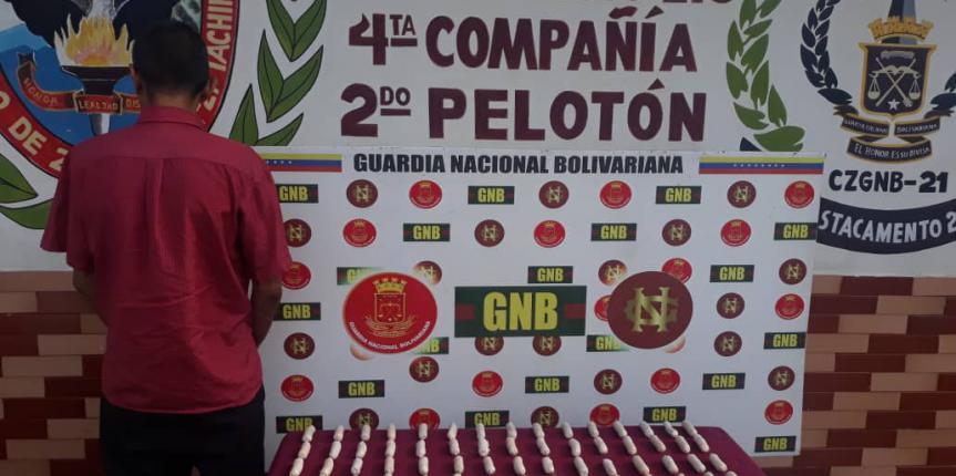 GNB Táchira detuvo a ciudadano con 75 dediles de droga