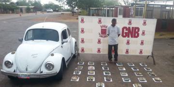 Detenido por la GNB ciudadano con casi 15 kilos de droga en la Falcón-Zulia