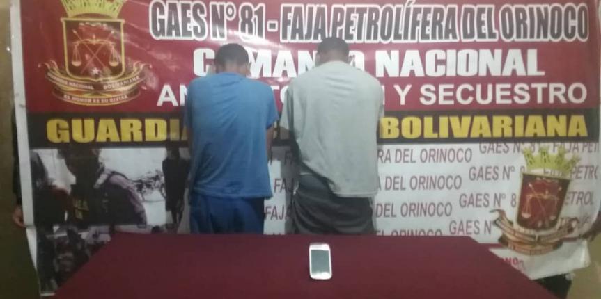 "Gaes 81 captura a integrantes de la Banda ""Los Ranticantis"