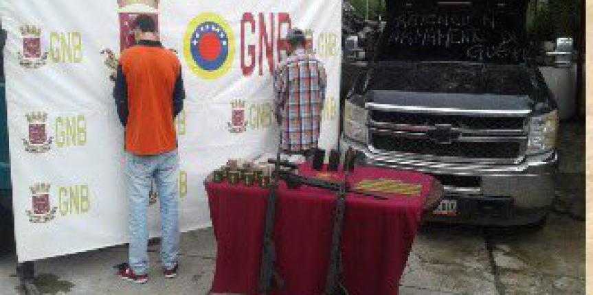 GNB incautó tres fusiles en el punto de control de Mucuruba del Páramo merideño