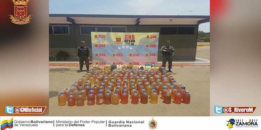 """No al Contrabando"" GNB Zulia retuvo 149 pimpinas de Gasolina"