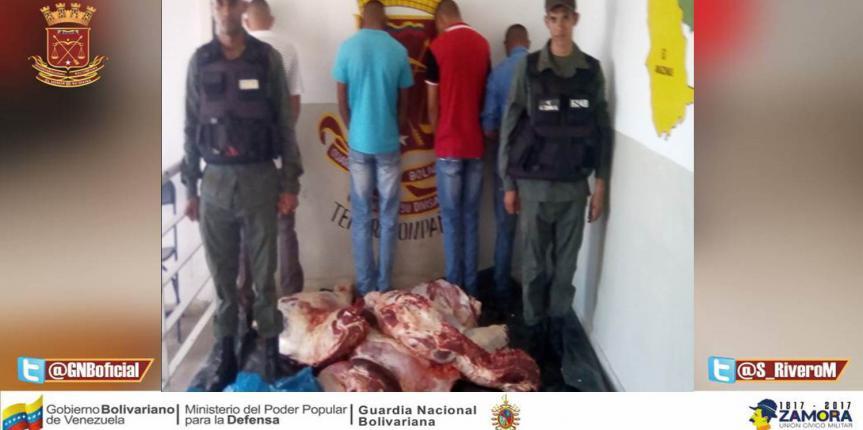 Detenidos tres ciudadanos con más de 300 Kgs de carne sin guía de movilización en Cojedes
