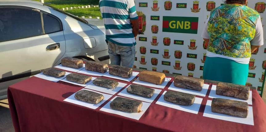 GNB incautó 14 panelas de presunta marihuana en el estado Bolívar