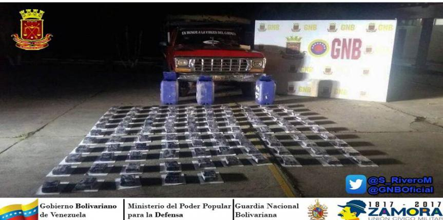Golpe duro al Narcotráfico GNB Táchira incautó 109 Kilos de Cocaína en frontera Colombo-Venezolana