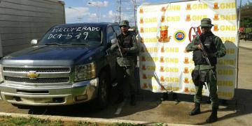 GNB Anzoátegui recuperó más de 40 vehículos en septiembre