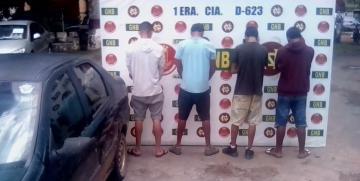 GNB capturó a cuatro ciudadanos por robo de vehículo en el estado Bolívar