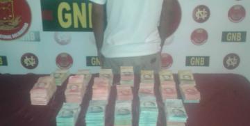 Capturado ciudadano por la GNB con más de 204 millones de bolívares