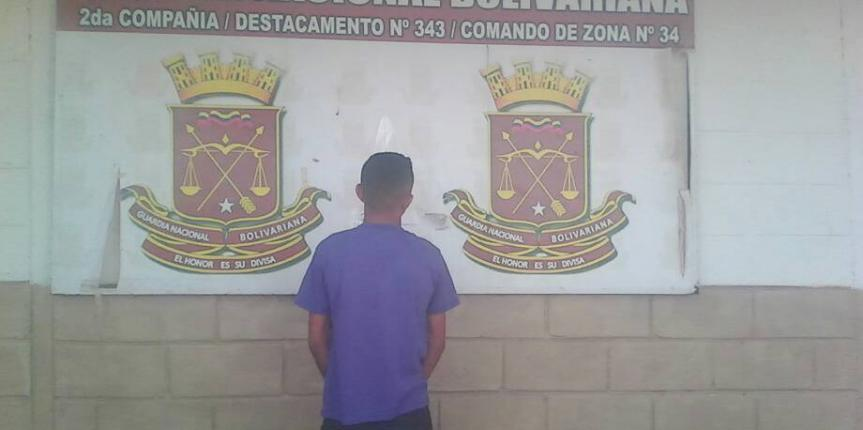 GNB Guárico aprehendió a tres ciudadanos en diferentes procedimientos