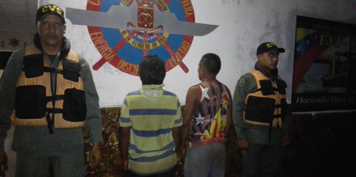 Comando de Vigilancia Costera detuvo a dos ciudadanos con más de tres mil litros de combustible en el Delta Amacuro