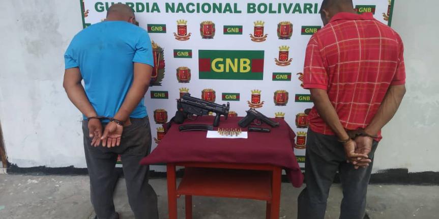 GNB capturó a dos ciudadanos con armas de fuego en el estado Bolívar