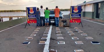GNB Zulia capturó a 4 ciudadanos con cargamento de droga proveniente de Colombia
