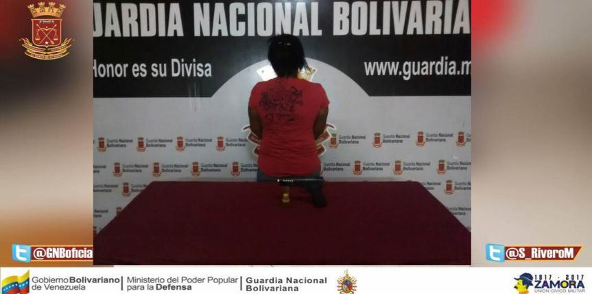GNB Falcón detuvo a ciudadana por robar trasporte público