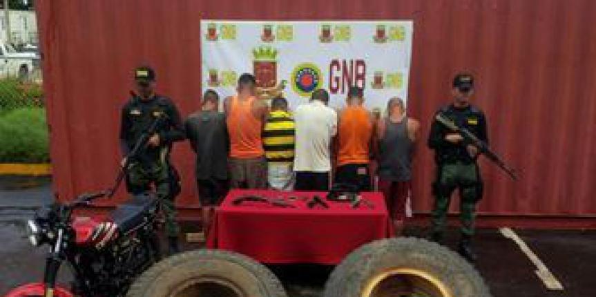 GNB GAES capturaron a 06 sujetos por robo de material estratégico en zona sur de Anzoátegui
