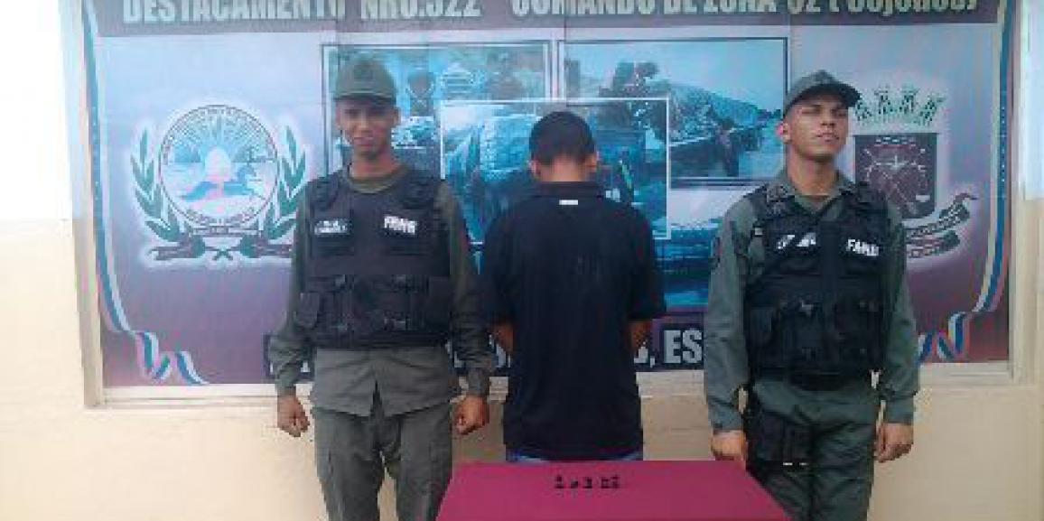 GNB detuvo a un hombre por posesión ilícito de drogas