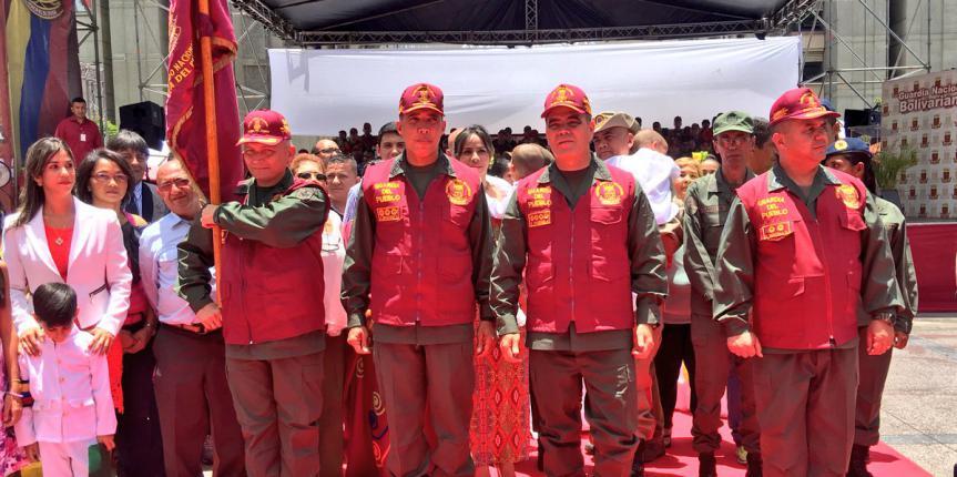 Acto de entrega y recepción del Comando Nacional Guardia del Pueblo