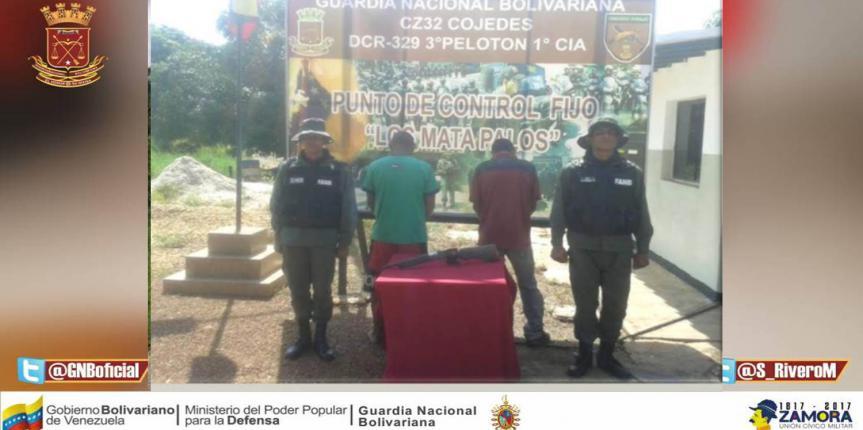 GNB detuvo a ciudadano por porte ilícito de arma de fuego