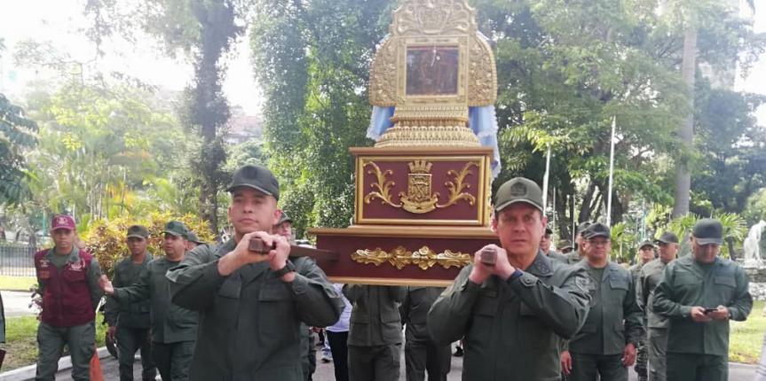 GNB rinde homenaje a la Virgen del Rosario de Chiquinquirá en sus 310 años de renovación milagrosa