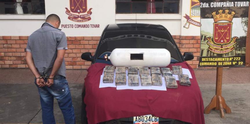 Capturado ciudadano con 14 panelas de Cocaína en el estado Mérida