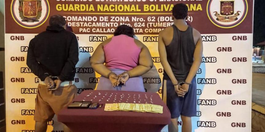 GNB desmantela en El Callao banda dedicada al microtráfico de drogas