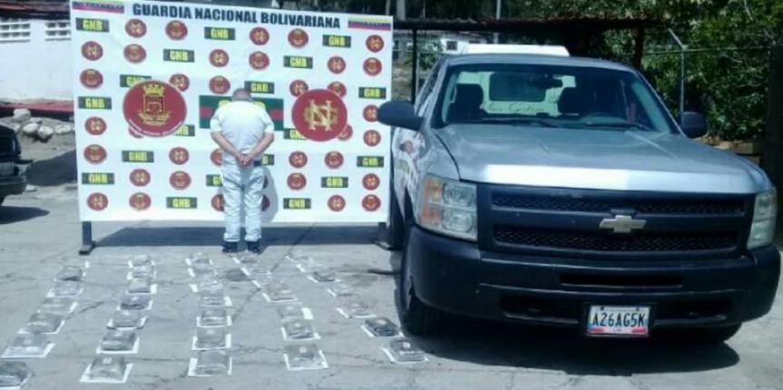 GNB Mérida incautó casi 43 kilos de cocaína en Mucurubá