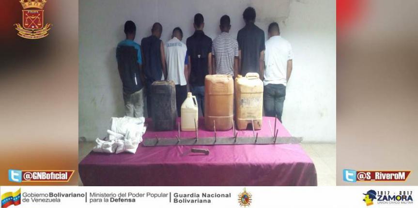 GNB detuvo  a siete ciudadanos en Troncal 9 por intento de robo y saqueo