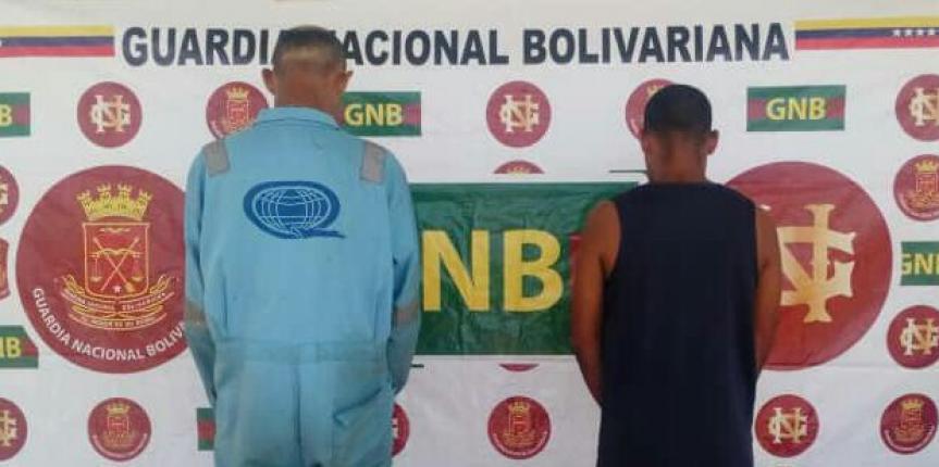 Comando de Vigilancia Costera de la GNB detiene a dos ciudadanos y retiene mil doscientos litros de gasoil