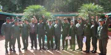 Alto mando militar de la GNB realizó visita institucional al Comando de Zona N° 43 en el Distrito Capital