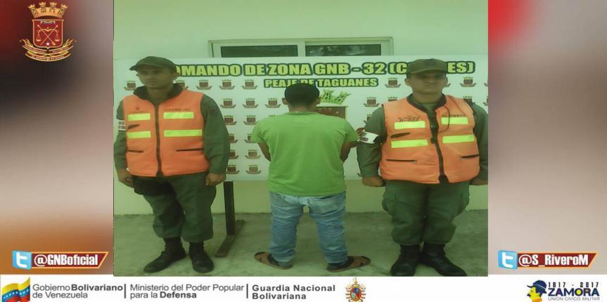 GNB impide robo en el municipio Tinaquillo estado Cojedes