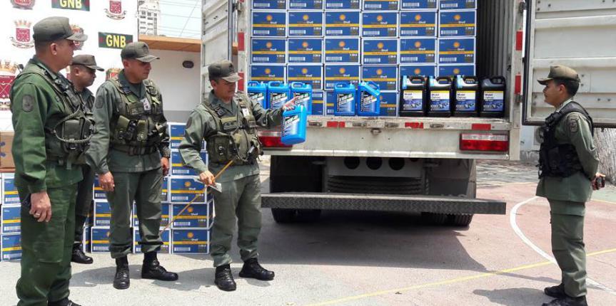 GNB retiene más de 5 mil 500 litros de aceites de motor en Anzoátegui