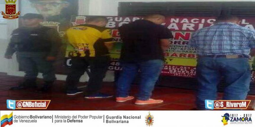 GNB Barinas capturó a tres ciudadanos solicitados  por diversos delitos
