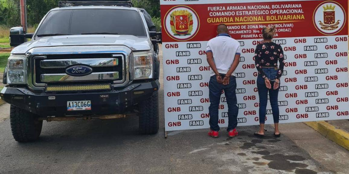 GNB capturó a dos ciudadanos por tráfico ilícito de personas en el estado Bolívar