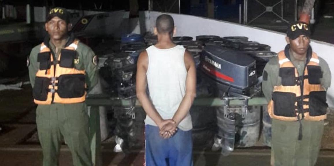 Comando de Vigilancia Costera retuvo en diferentes procedimientos más de 5 mil litros de combustible en el estado Bolívar