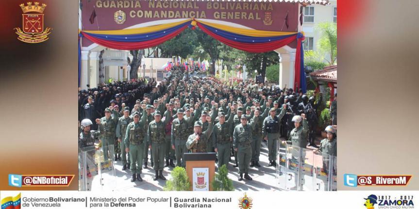 GNB se pronunció ante los hechos terroristas ocasionados a la Brigada 41 Blindada del Ejército Bolivariano en el Estado Carabobo.