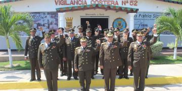 Comando de vigilancia costera realizó acto de reconocimiento al personal de efectivos de tropa profesional que pasan a reserva activa por 33 años de servicio cumplidos
