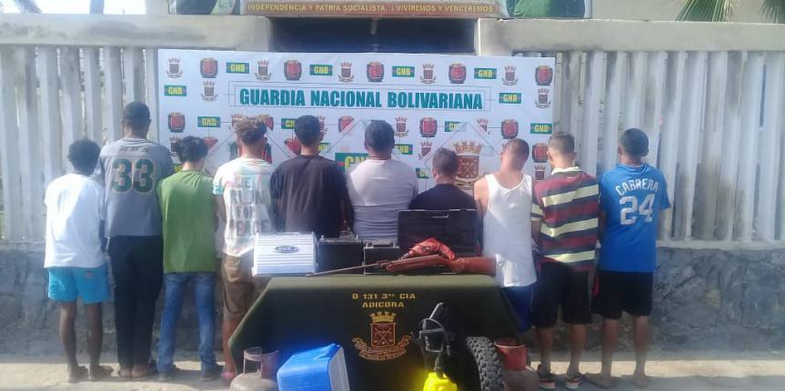 GNB Falcón desmantela grupo estructurado de delincuencia organizada dedicado al robo de viviendas