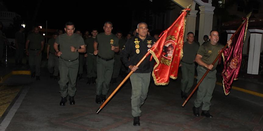 GNB realizó trote en conmemoración al Día de la Dignidad Nacional
