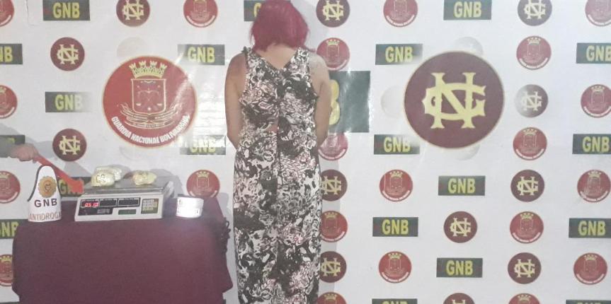 GNB Bolívar capturó a ciudadana de nacionalidad brasilera con 510 gramos de droga