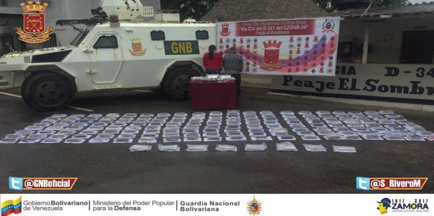 GNB Guárico interceptó contrabando con más de 100 kilos de marihuana y cocaína