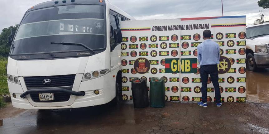 GNB capturó a ciudadano por tráfico de 1.140 litros de gasoil en el estado Bolívar