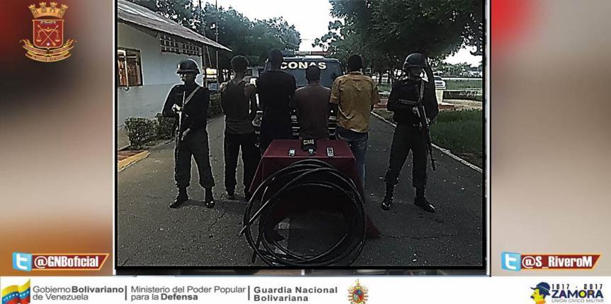 GAES Zulia logró capturar a grupo de delincuencia organizada dedicada al tráfico de material estratégico