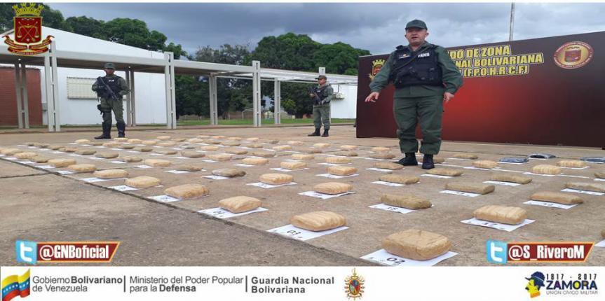 Certero golpe al narcotráfico GNB incautó 105 panelas de marihuana