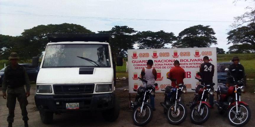 GNB desmantela banda 'los Jaguares' dedicados al hurto de motos en Mérida