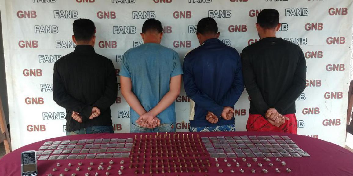 "GNB captura a 4 integrantes del GEDO ""El Perú"" en el Callao del estado Bolívar"
