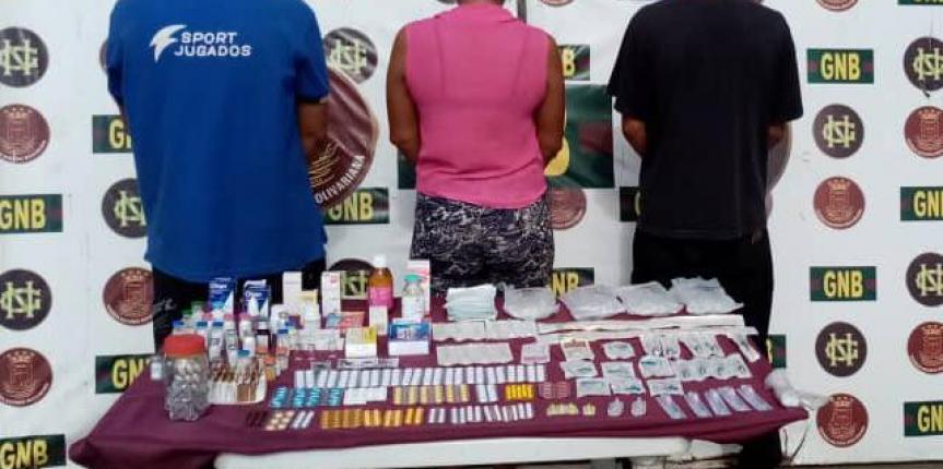 GNB capturó a tres ciudadanos por contrabando de medicinas en el estado Bolívar