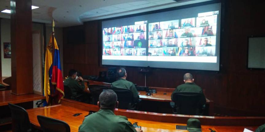 Comandante General de la GNB realizó videoconferencia con los Comandantes de Zona y Grandes Unidades
