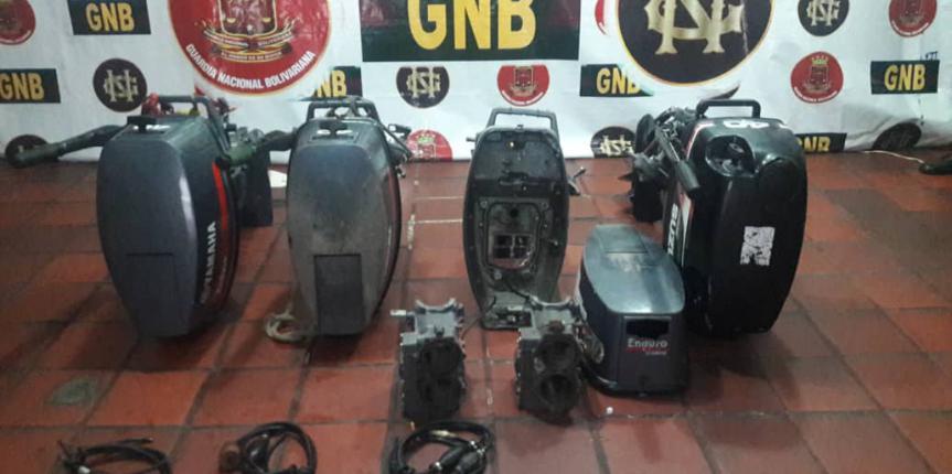 Comando de vigilancia costera desmantela banda dedicada al robo de motores en el estado Sucre y Nueva Esparta